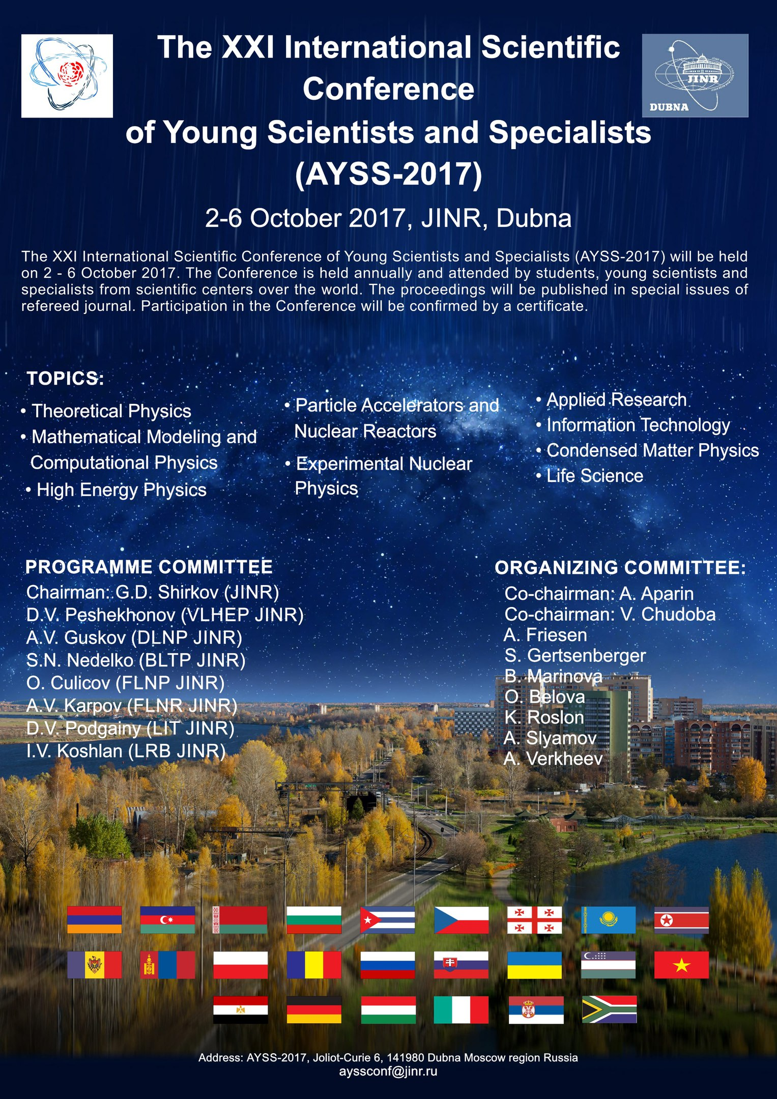 21st International Scientific Conference of Young Scientists