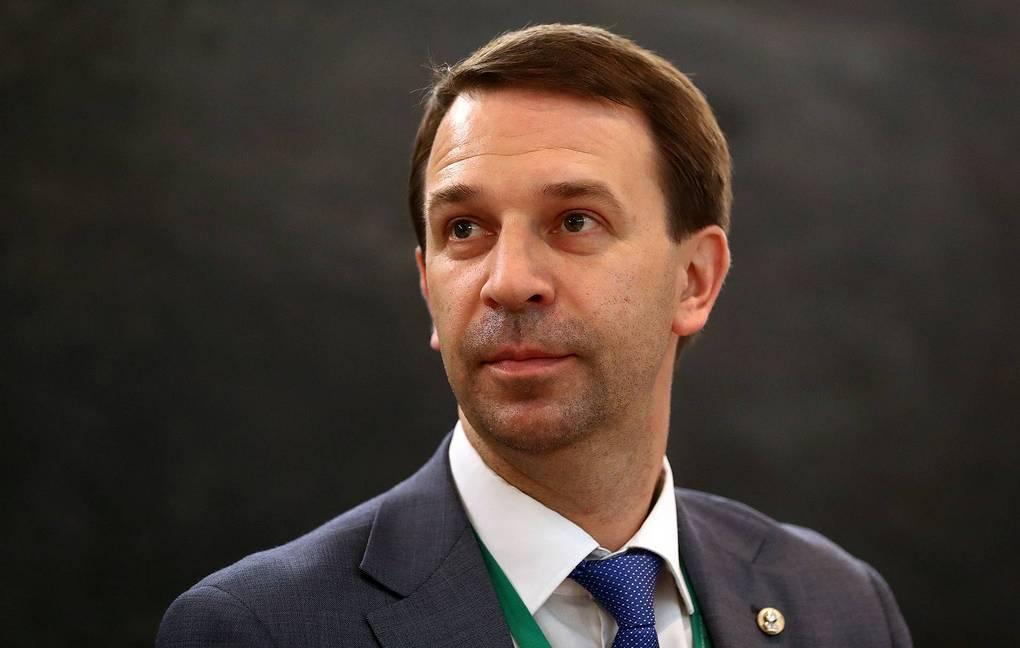 """MOSCOW, RUSSIA – JUNE 30, 2017: Russia's Deputy Education and Science Minister Grigory Trubnikov looks on at the 2017 Primakov Readings International Forum at Moscow's World Trade Centre. Stanislav Krasilnikov/TASS  Ðîññèÿ. Ìîñêâà. 30 èþíÿ 2017. Çàìåñòèòåëü ìèíèñòðà îáðàçîâàíèÿ è íàóêè ÐÔ Ãðèãîðèé Òðóáíèêîâ íà ñåññèè """"Ýõî áóäóùåãî – íîâàÿ òåõíîëîãè÷åñêàÿ ðåâîëþöèÿ?"""" íà ìåæäóíàðîäíîì íàó÷íî-ýêñïåðòíîì ôîðóìå """"Ïðèìàêîâñêèå ÷òåíèÿ"""". Ñòàíèñëàâ Êðàñèëüíèêîâ/ÒÀÑÑ"""
